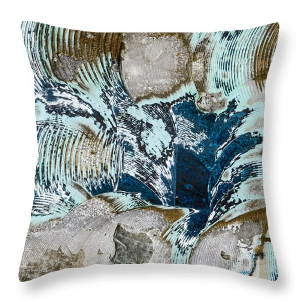 Eye Of The Storm Throw Pillow by Carol Leigh