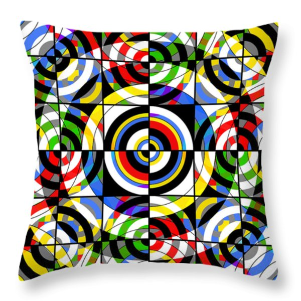 Eye On Target Throw Pillow by Mike McGlothlen