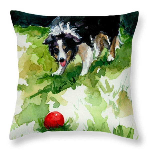 Eye On Tthe Ball Throw Pillow by Molly Poole