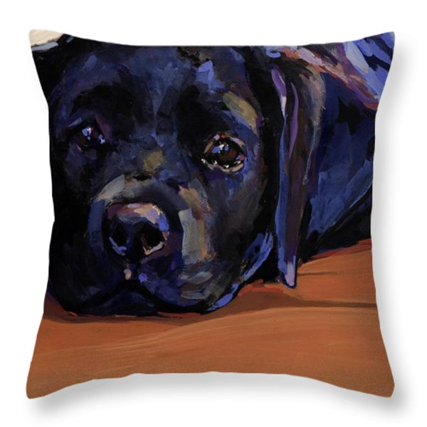 Eyes For You Throw Pillow by Molly Poole