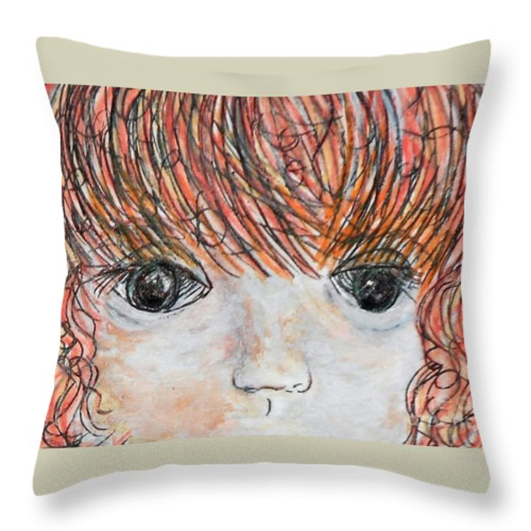 Eyes Of Innocence Throw Pillow by Eloise Schneider