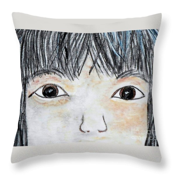 Eyes of Love Throw Pillow by Eloise Schneider