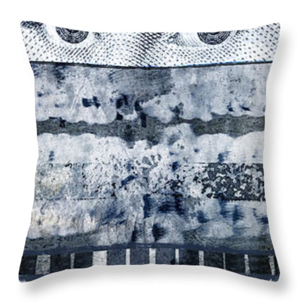 Eyes On Seven Throw Pillow by Carol Leigh