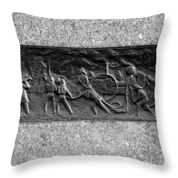 F. D. N. Y. In Black And White Throw Pillow by Rob Hans