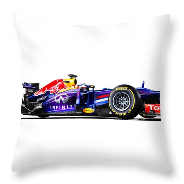 F1 Red Bull Rb9 Throw Pillow by Gianfranco Weiss