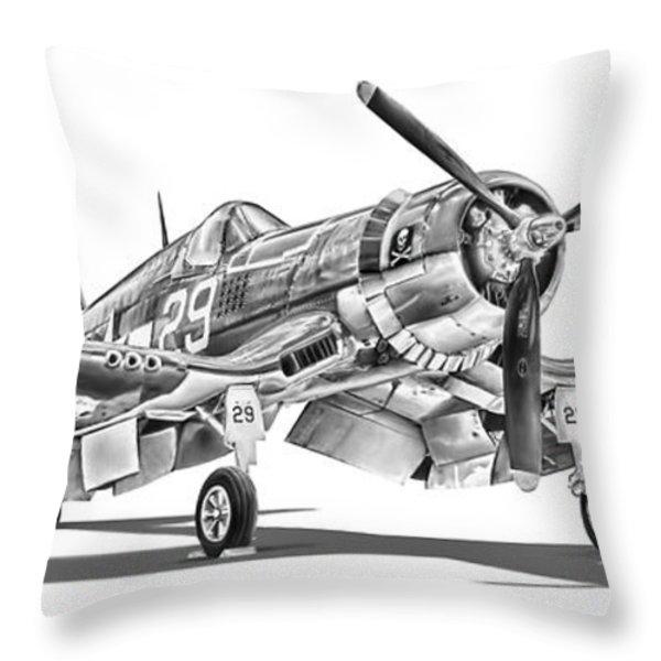 F4U Corsair Throw Pillow by Dale Jackson