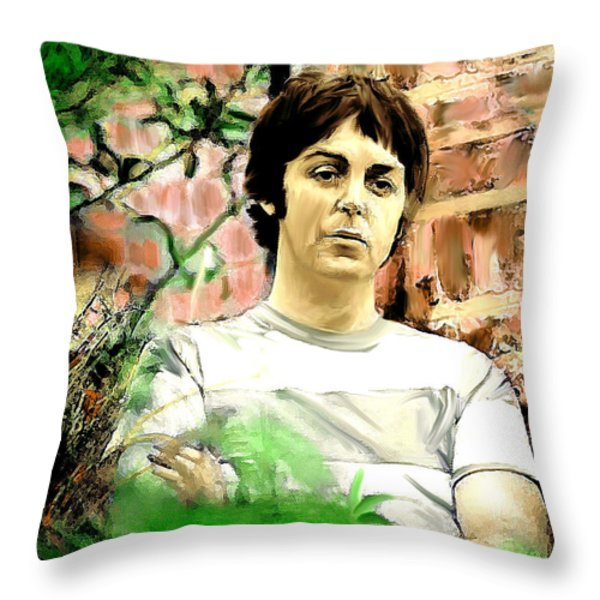 Fab  Paul McCartney  Throw Pillow by Iconic Images Art Gallery David Pucciarelli