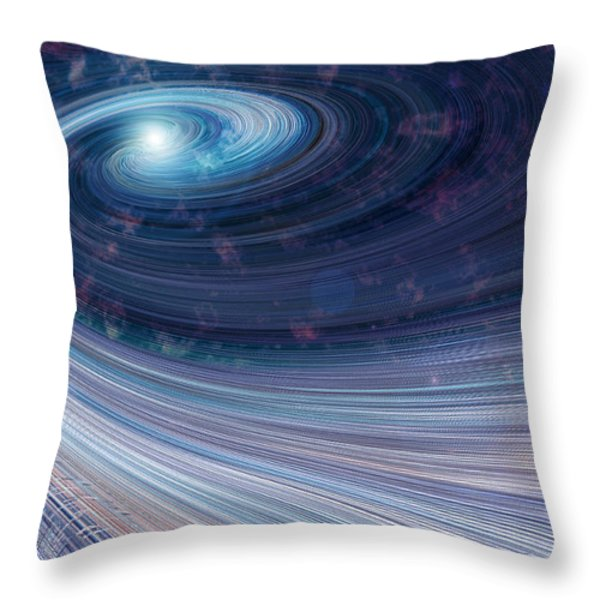 Fabric of Space Throw Pillow by Fran Riley