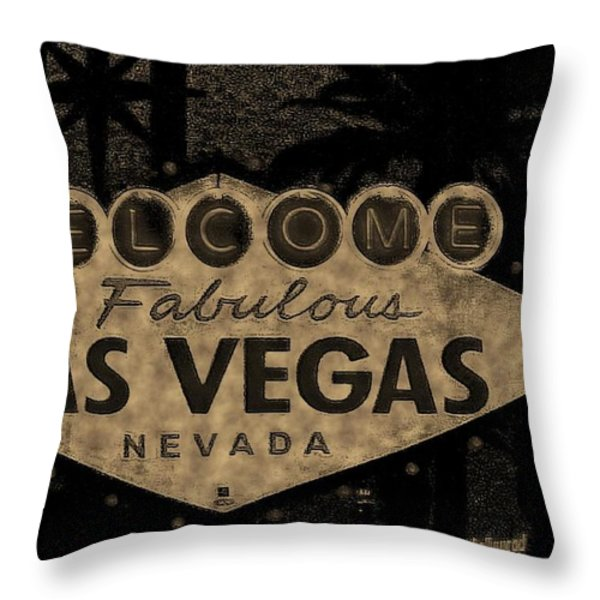 Fabulost Vegas Spelling Correct Throw Pillow by John Malone