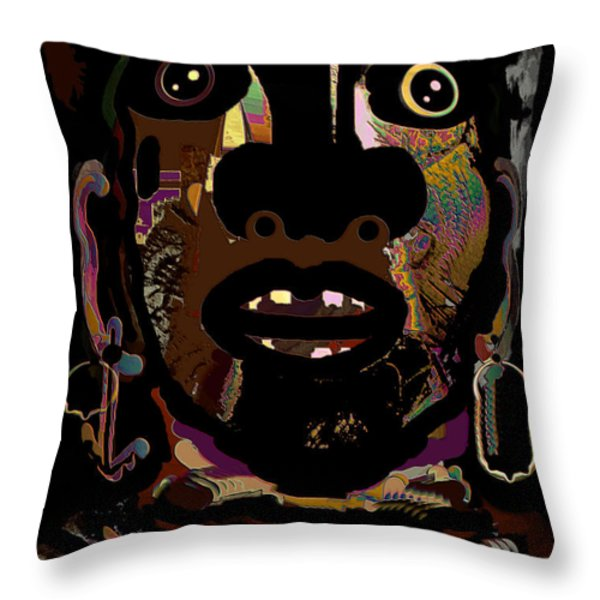 Face 15 Throw Pillow by Natalie Holland