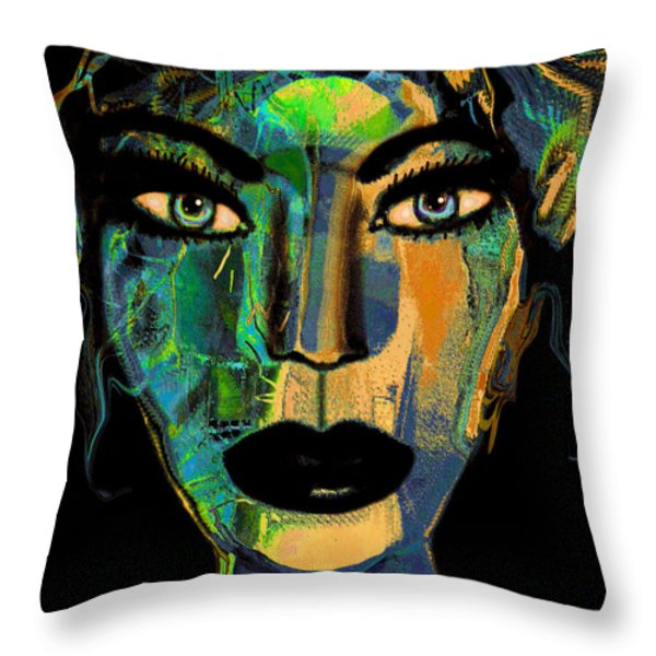 Face 16 Throw Pillow by Natalie Holland