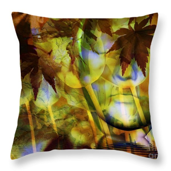 Face In The Rock Dreams Of Tulips Throw Pillow by Elizabeth McTaggart