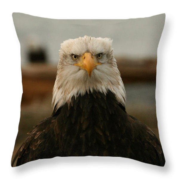 Face Off Throw Pillow by Crystal Magee