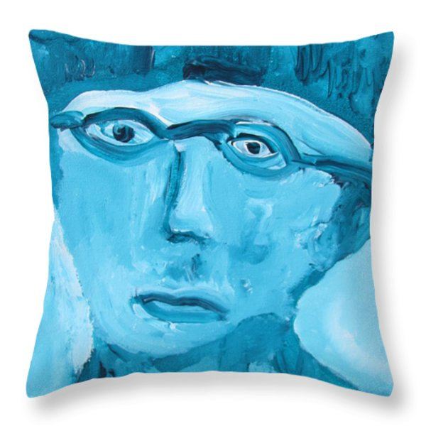 Face One Throw Pillow by Shea Holliman