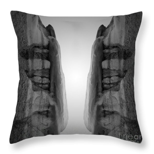 Face To Face Montage I Throw Pillow by David Gordon