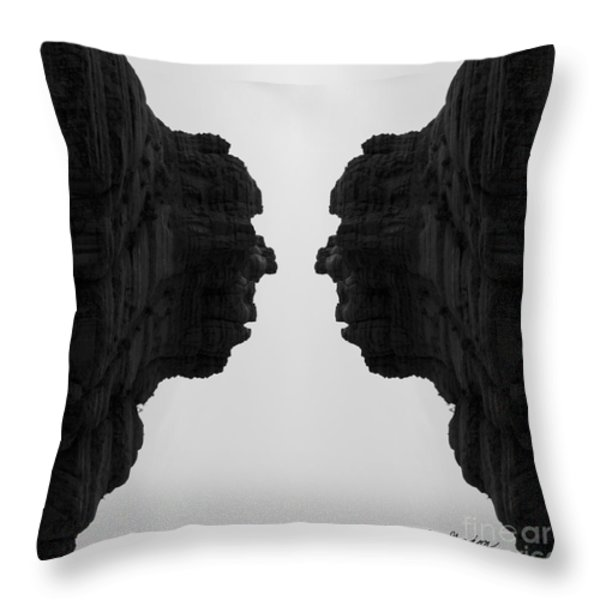 Face To Face Montage II Throw Pillow by Dave Gordon