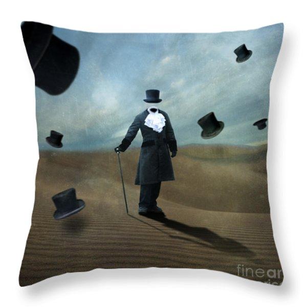 Faceless Throw Pillow by Juli Scalzi