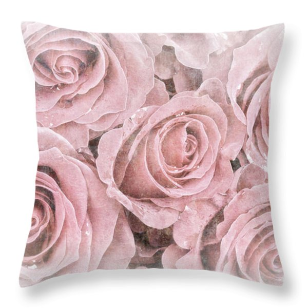 Faded roses Throw Pillow by Jane Rix