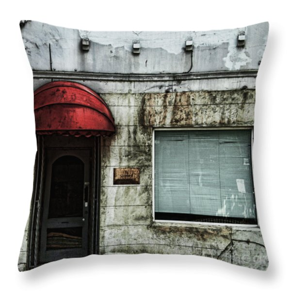 Fading Facade Throw Pillow by Andrew Paranavitana