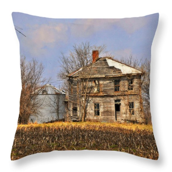 Fading Farm Throw Pillow by Marty Koch