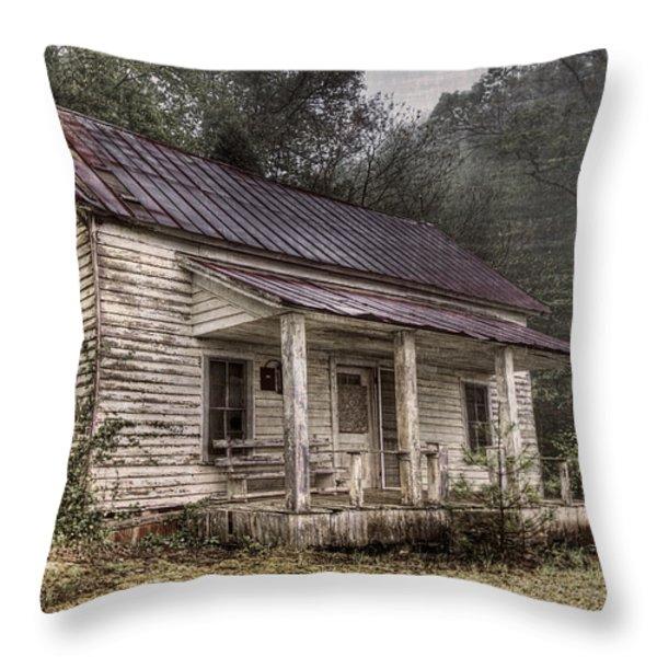 Fading Memories Throw Pillow by Debra and Dave Vanderlaan