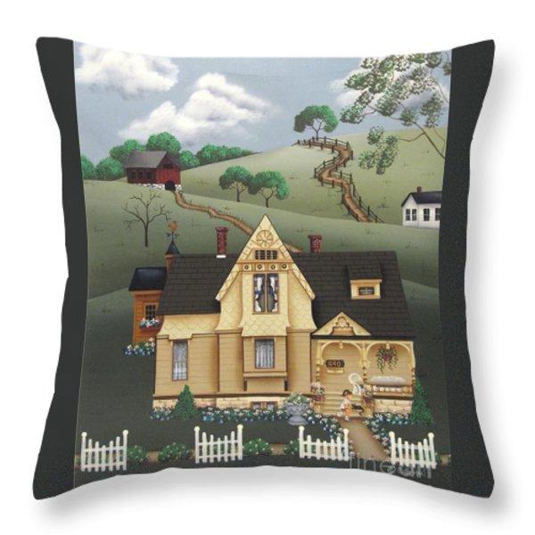 Fairhill Farm Throw Pillow by Catherine Holman