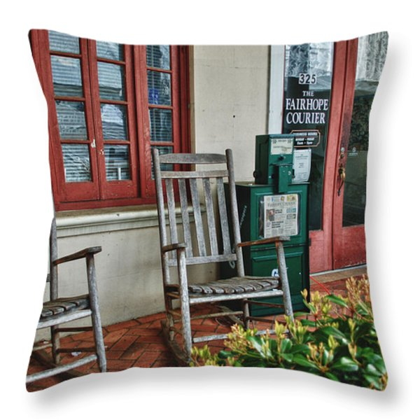 Fairhope Courier Throw Pillow by Michael Thomas
