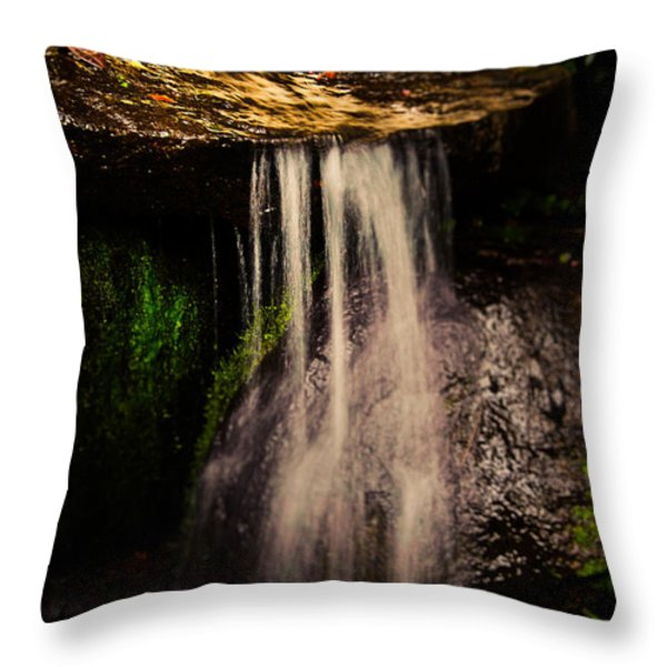 Fairy Falls Throw Pillow by Loriental Photography