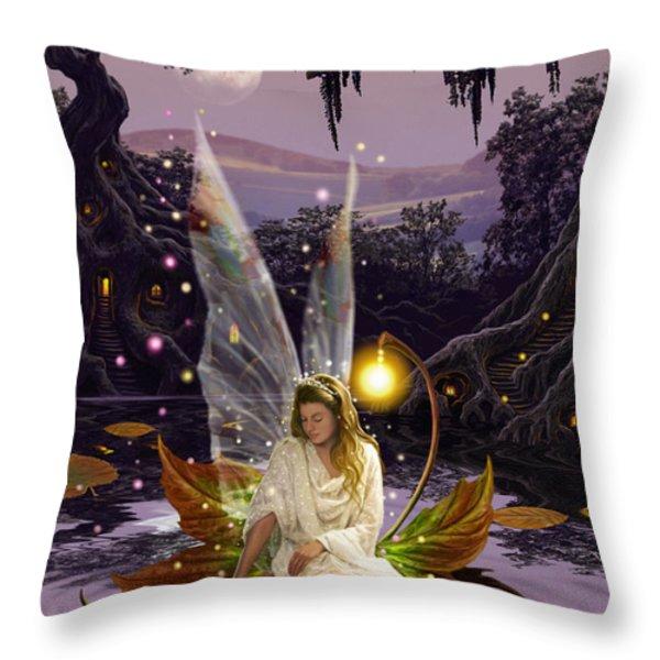Fairy Princess Throw Pillow by Garry Walton