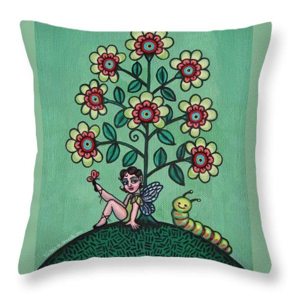 Fairy Series Katrina Throw Pillow by Victoria De Almeida