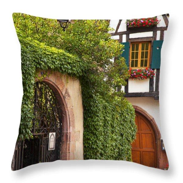 Fairytale Village Throw Pillow by Brian Jannsen