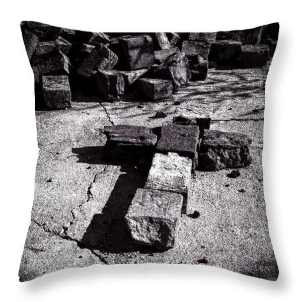 Faith Among The Ruins Throw Pillow by Bob Orsillo
