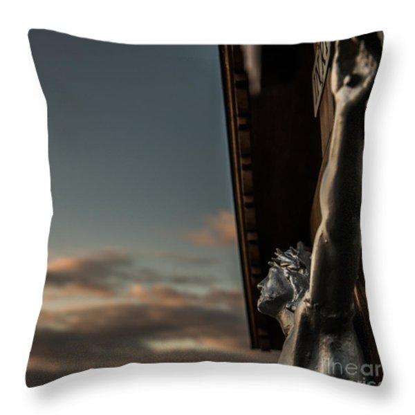 Faith Throw Pillow by Hannes Cmarits