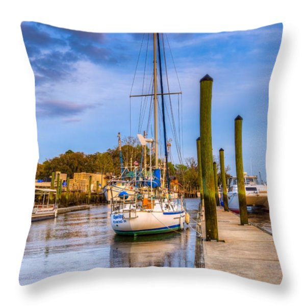 Faith Hope And Charity Throw Pillow by Debra and Dave Vanderlaan