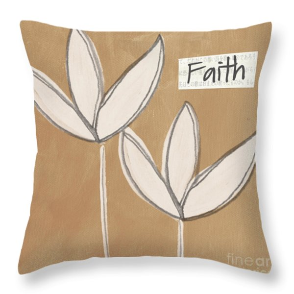 Faith Throw Pillow by Linda Woods