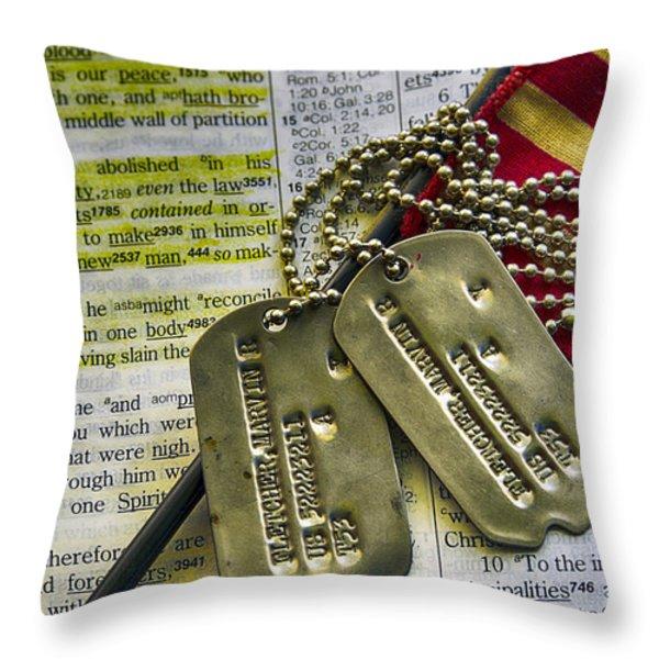 Faith Service Patriotism Throw Pillow by Thomas R Fletcher