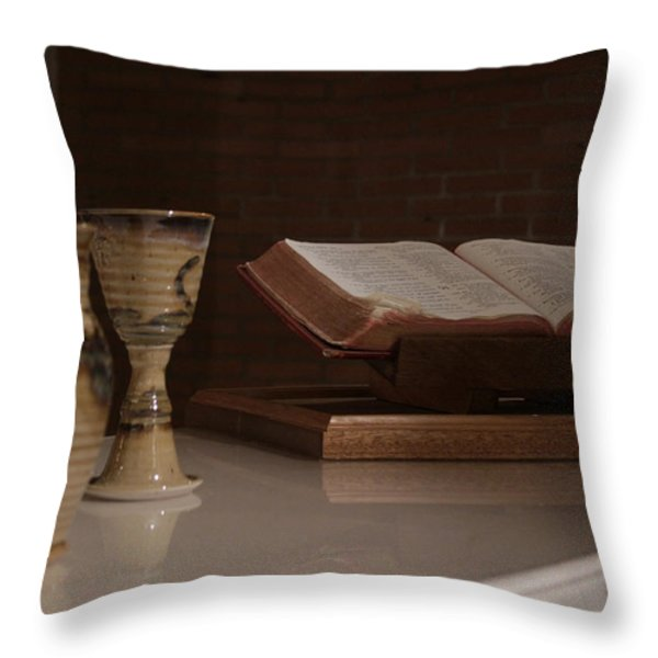 Faith Throw Pillow by Shoal Hollingsworth