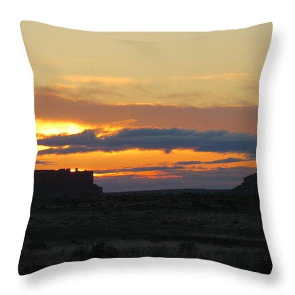 Fajada Butte At Sunrise Throw Pillow by Feva  Fotos