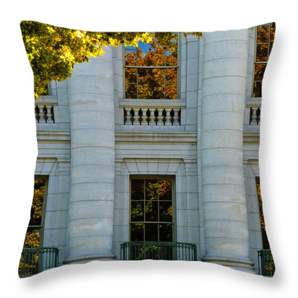 Fall at the Capitol Throw Pillow by Christi Kraft