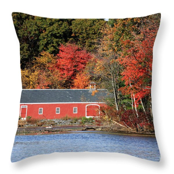 Fall At The Mill Throw Pillow by Jayne Carney