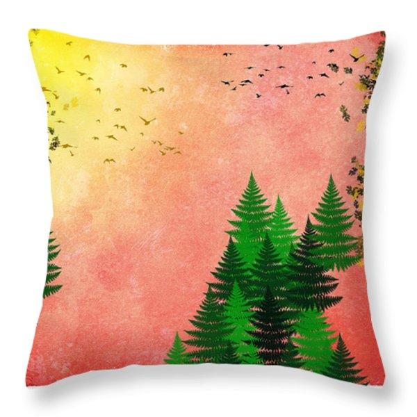 Fall Autumn Four Seasons Art Series Throw Pillow by Christina Rollo