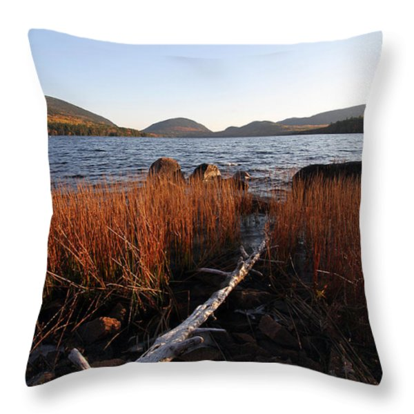 Fall Colors at Eagle Lake in Maine Throw Pillow by Juergen Roth