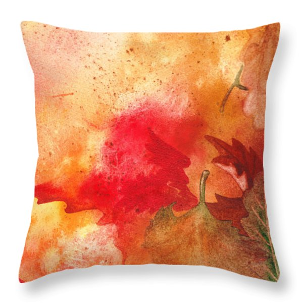 Fall Impressions Throw Pillow by Irina Sztukowski