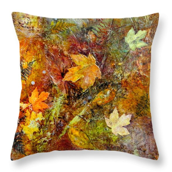 Fall Throw Pillow by Katie Black
