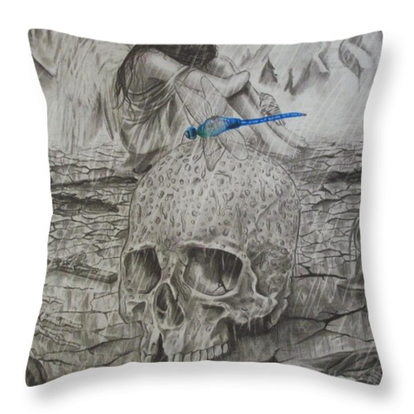 Fallen Throw Pillow by Amber Stanford