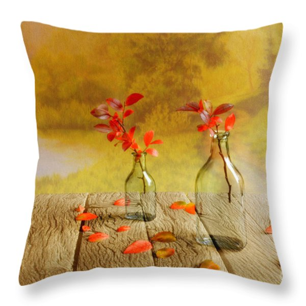 Fallen leaves Throw Pillow by Veikko Suikkanen