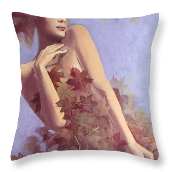 Fall...in love... Throw Pillow by Dorina  Costras