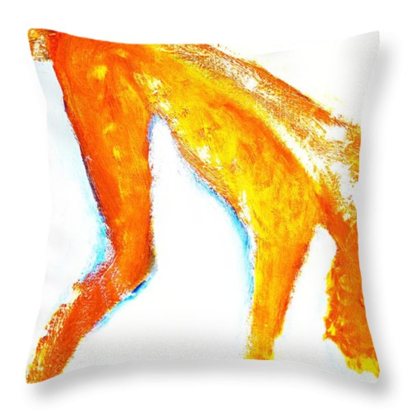 Falling again  Throw Pillow by Hilde Widerberg