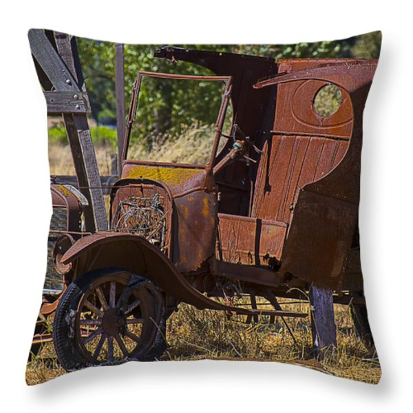 Falling Apart Throw Pillow by Garry Gay