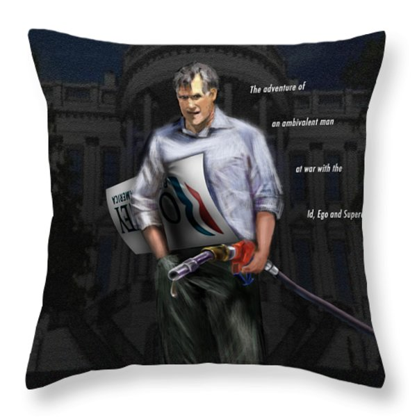 Falling Down Throw Pillow by Reggie Duffie